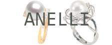 Anelli di perle Australiane bianche argentate