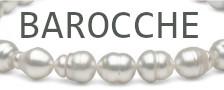 Perle barocche Australiane bianche argentate