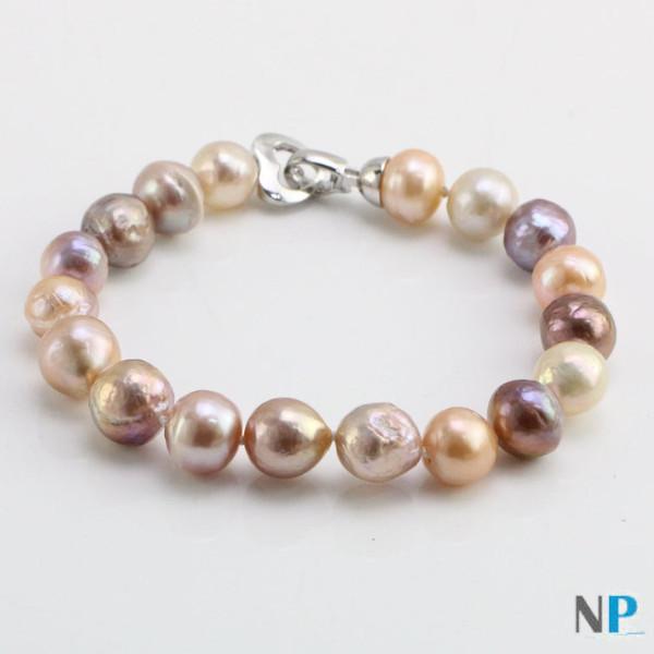 Braccialetto Kasumi perle multicolori d'acqua dolce di seconda generazione Ripple/Kasumi