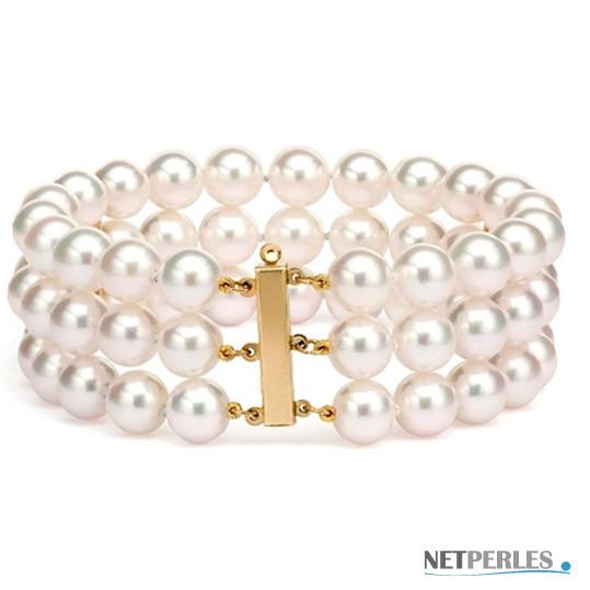 Braccialetto Triplo filo di perle