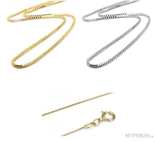 Catenine in oro bianco e oro giallo per pendenti con perle di coltura