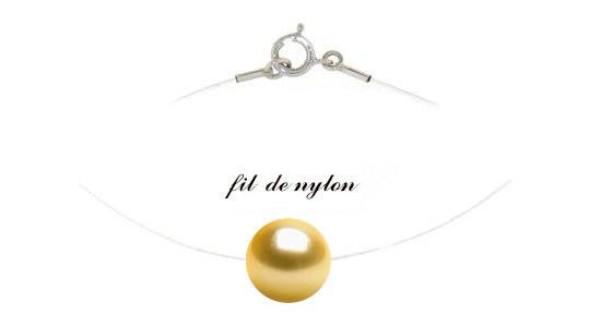 Pendente/Collana nylon passante la perla dorata delle Filippine