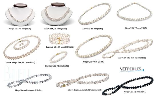 Collezione di gioielli di perle akoya, collane di perle e parure di perle, autentiche perle akoya, perle di coltura