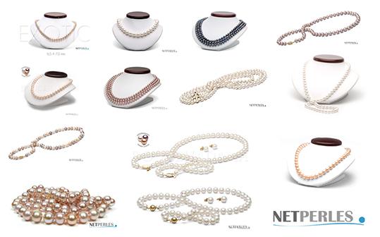 Collezione di collane di perle d'acqua dolce