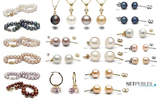 Collezione di gioielli con perle d'acqua dolce - numerosi gioielli, grande collezione
