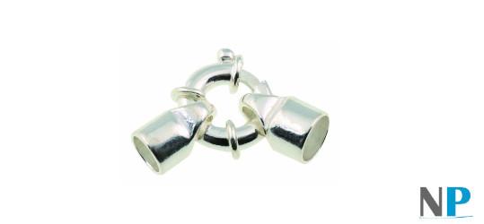 Fermaglio salvagente de 12 mm, in argento rodiato, solido e inossidabile, il rodio che lo ricopre è anallergico