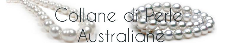 Collane di perle di coltura AUSTRALIANE bianche argentate