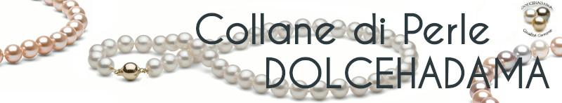 Collane di perle Dolcehadama: Bianche, lavanda e pesca, colori naturali