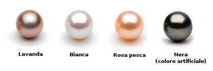 Colori delle perle d'acqua dolce