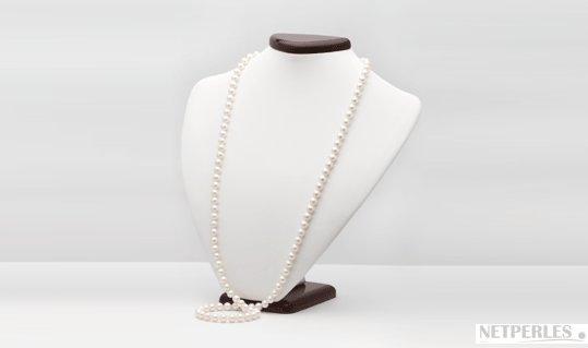 Collana da 90 cm con Perle DOLCEHADAMA bianche
