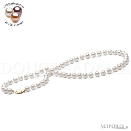 Collana di perle d'acqua dolce DOLCEHADAMA 6-7 mm bianche