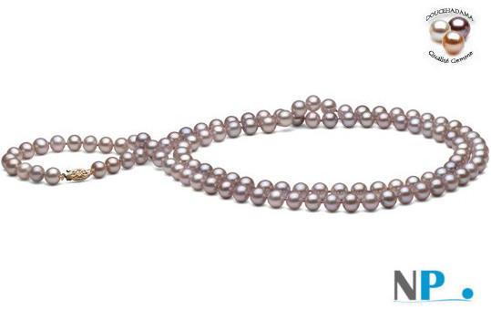 Sautoir di perle d'acqua dolce 90 cm  lavanda  DOLCEHADAMA