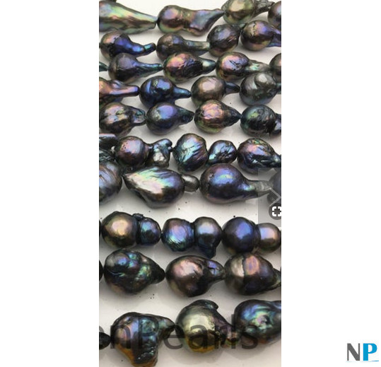 Filo di perle Edison nere d'acqua dolce di coltura dalla Cina