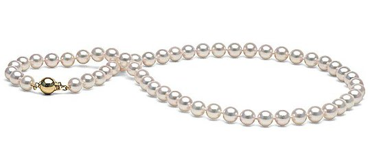 Collana 43 cm perle Akoya bianche