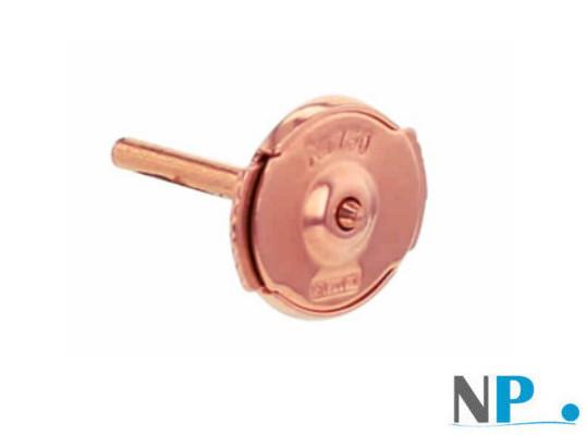 Sistema di sicurezza brevettato GUARDIAN per orecchini di perle in oro rosso 18k