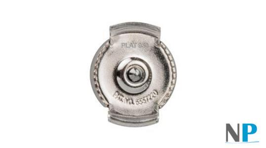 Sistema di sicurezza brevettato GUARDIAN per orecchini di perle in platino 950