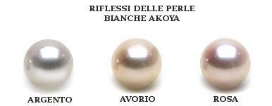 Oriente delle perle Akoya bianche
