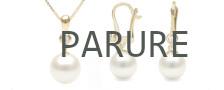 Parure di perle Australiane bianche argentate