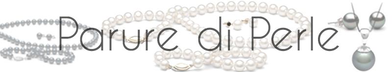 Parure di perle | Parure di gioielli in vere perle | perle di coltura