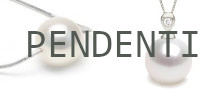 Pendenti con perle Australiane bianche argentate