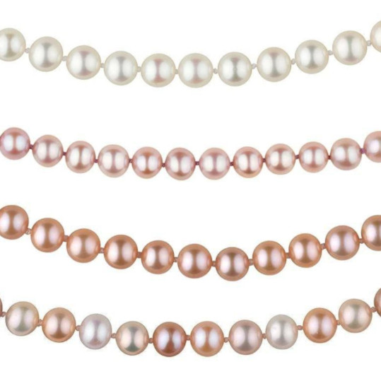 Filo 40 cm non montato di perle coltivate d'acqua dolce da 6-7 mm DOLCEHADAMA