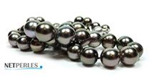 gioiello di lusso, collana di vere perle di tahiti