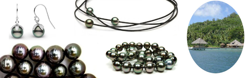 Perle nere di Tahiti della Polinesia, colori naturali