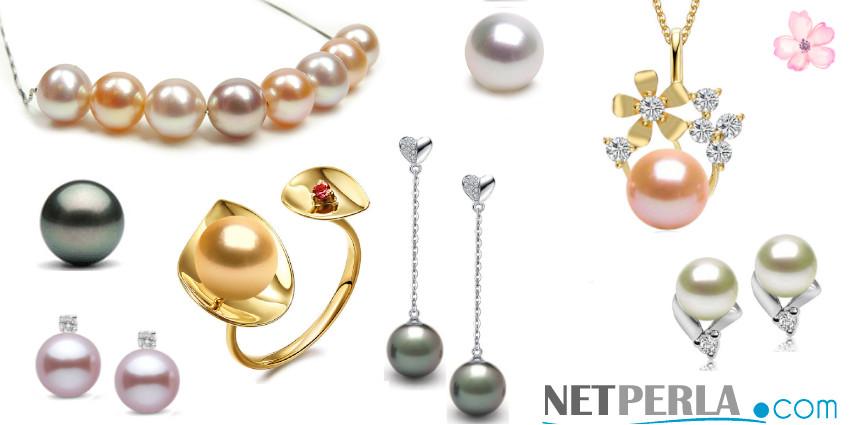 Gioielli di perle di coltura Netperla
