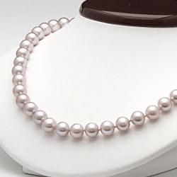 Collana 45 cm perle d'acqua dolce 6-7 mm lavanda DOLCEHADAMA