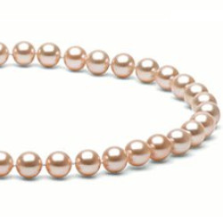 Collana 40 cm perle d'acqua dolce 7-8 mm rosa pesca DOLCEHADAMA