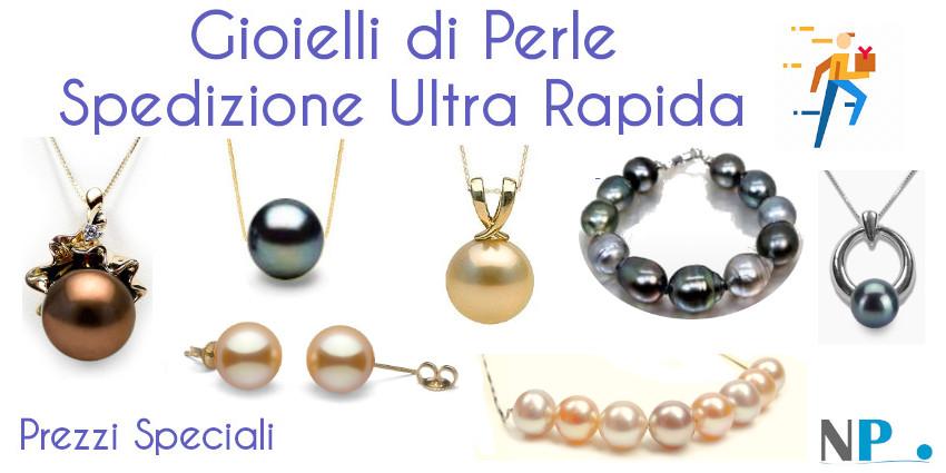Gioielli di perle spedizione ultra rapida