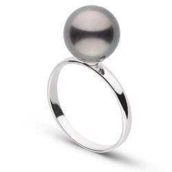 Anello in Argento 925 con perla di coltura di Tahiti AAA