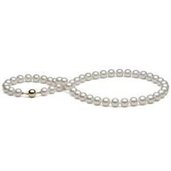 Collana di perle di coltura Akoya, 45 cm, 8-8,5 mm, bianche