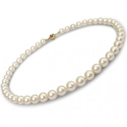 Collana di perle di coltura Akoya, 40 cm, 8,5-9 mm, bianche