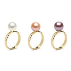 Anello in oro 18 carati con perle d'acqua dolce AAA
