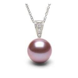 Pendente in Oro 14k Diamanti con Perla Dolcehadama Lavanda