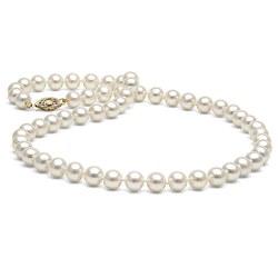 Collana 45 cm di perle di coltura d'acqua dolce da 6-7 mm, bianche