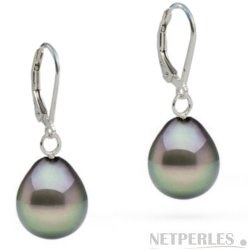 Orecchini in Argento 925 perle di Tahiti AAA a goccia