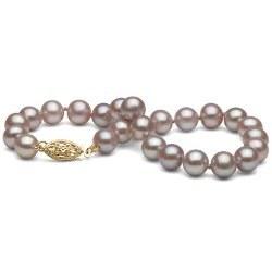 Braccialetto 18 cm di perle di coltura d'acqua dolce lavanda da 6-7 mm