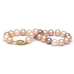 Braccialetto 18 cm di perle di coltura d'acqua dolce multicolori da 6-7 mm