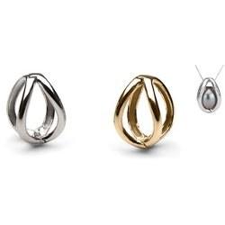 Pendente Gabbia in oro 18 carati per una perla di coltura (perla non inclusa)