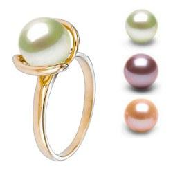 Anello Oro 18k con perla d'acqua dolce DOLCEHADAMA