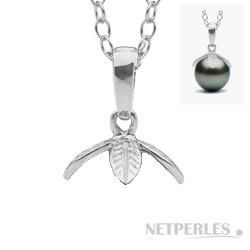 Beliera in Argento 925 per pendente per perla di coltura semi forata