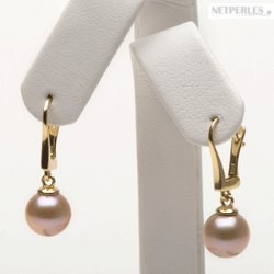 Orecchini di perle di coltura Acqua Dolce rosa pesca DOLCEHADAMA