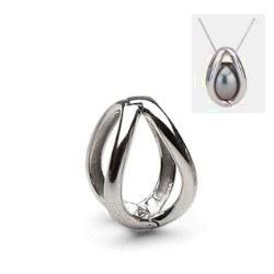 Pendente Gabbia in argento 925 per una perla di coltura (perla non inclusa)