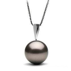 Pendente in Argento con perla di coltura di Tahiti AA+ o AAA