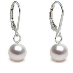 Orecchini in argento 925 con perle di coltura Akoya bianche