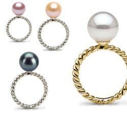 Anello oro 9k con perla d'acqua dolce qualità AAA