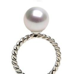 Anello in Argento con perla di coltura Acqua DOLCEHADAMA