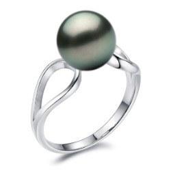 Anello in Argento 925 con perla di Tahiti 8-9 mm AAA